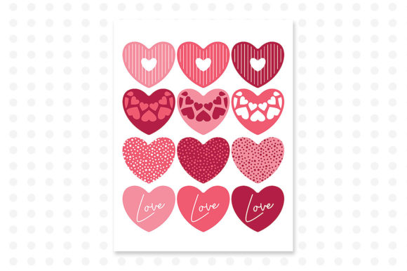 Download Free Valentine S Printable Cupcake Toppers Hearts Graphic By Danieladoychinovashop Creative Fabrica for Cricut Explore, Silhouette and other cutting machines.