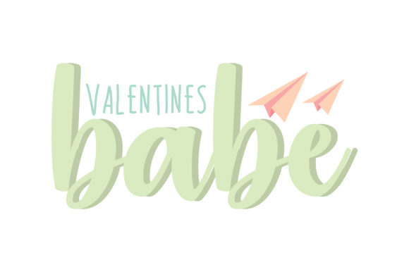 Print on Demand: Valentines Babe Quote SVG Cut Graphic Crafts By TheLucky