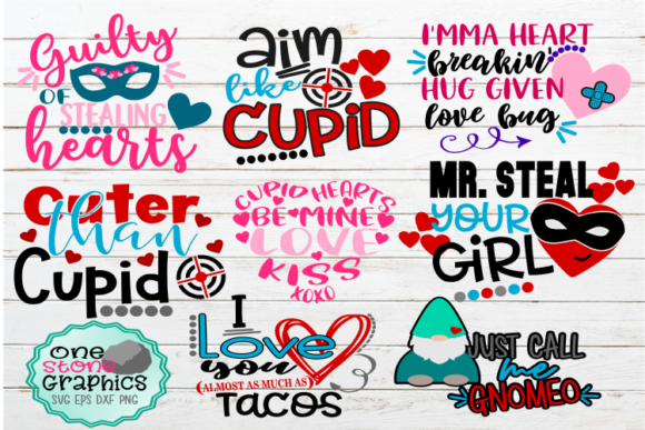 Valentines Day Bundle Graphic Crafts By OneStoneGraphics - Image 1