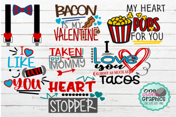 Valentine's Day Bundle  Graphic Crafts By OneStoneGraphics