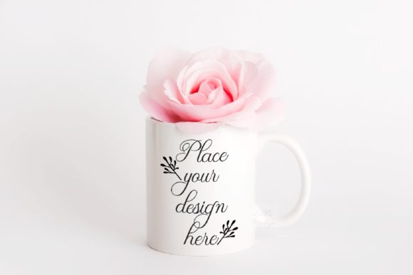 Print on Demand: Valentine's Mug Mockup Cup Mock Up Graphic Product Mockups By Leo Flo Mockups