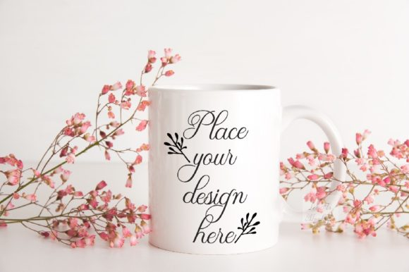Download Free Valentine S Pink Coffee Mug Mock Up Graphic By Leo Flo Mockups for Cricut Explore, Silhouette and other cutting machines.