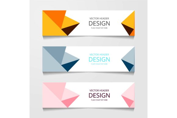 Download Free Vector Abstract Banner Design Web Template Grafico Por for Cricut Explore, Silhouette and other cutting machines.