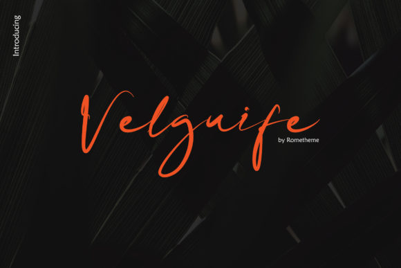 Print on Demand: Velgiufe Script Script & Handwritten Font By rometheme
