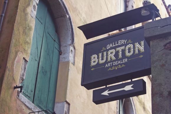 Venetian Directional Sign Mockup Graphic Product Mockups By SmartDesigns
