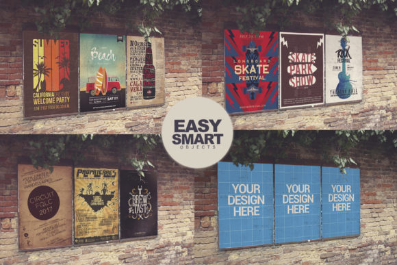 Download Free Venetian Wall View 3 In 1 Poster Mockup Grafico Por for Cricut Explore, Silhouette and other cutting machines.