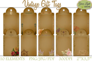 Vintage Printable Gift Tags Graphic By GreenLightIdeas