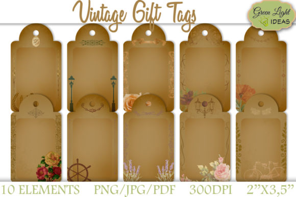 Vintage Printable Gift Tags Graphic Objects By GreenLightIdeas - Image 1