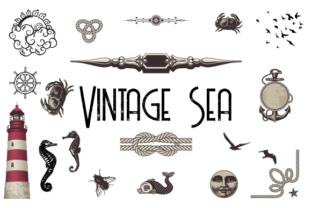 Vintage Pack of the Sea Graphic By hamelinckmichael
