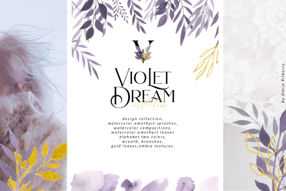 Violet Dream Collection Graphic Illustrations By BilberryCreate