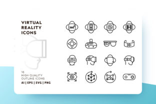 Virtual Reality Icon Pack Graphic By Goodware.Std