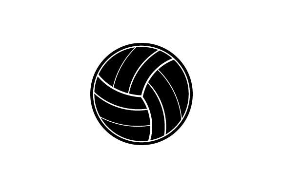 Volley Ball Vector Icon Graphic Icons By kokank13 - Image 1