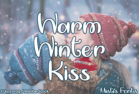Print on Demand: Warm Winter Kiss Script & Handwritten Font By Misti - Image 1