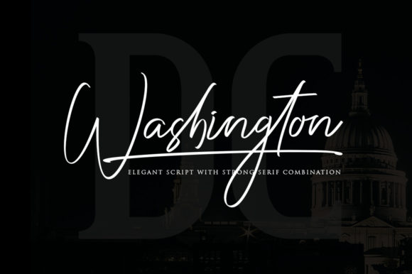 Print on Demand: Washington Duo Script & Handwritten Font By Haksen