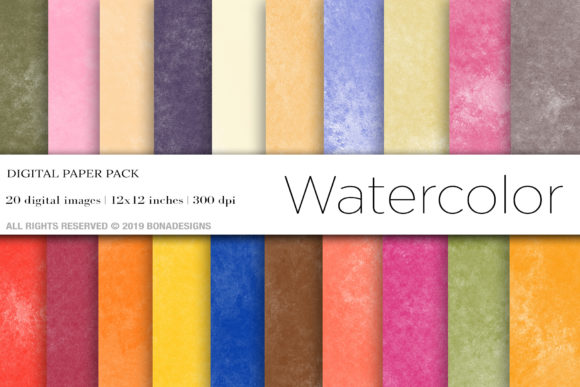 Watercolor Background Gráfico Fondos Por BonaDesigns