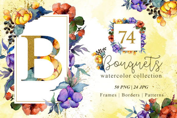 Print on Demand: Watercolor Bouquets Graphic Illustrations By MyStocks