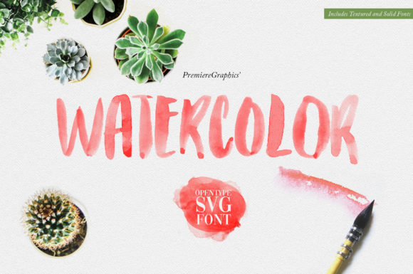 Print on Demand: Watercolor Color Fonts Font By Ryn Pojas - Image 2