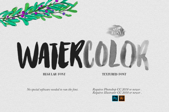 Print on Demand: Watercolor Color Fonts Font By Ryn Pojas