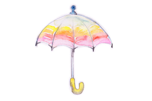 Watercolor Umbrella Fall Craft Cut File By Creative Fabrica Crafts - Image 1