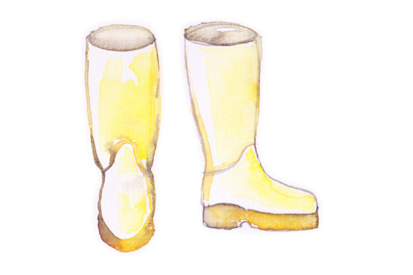 Watercolor Wellies Fall Craft Cut File By Creative Fabrica Crafts