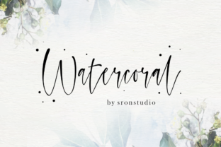 Watercoral Font By Sronstudio