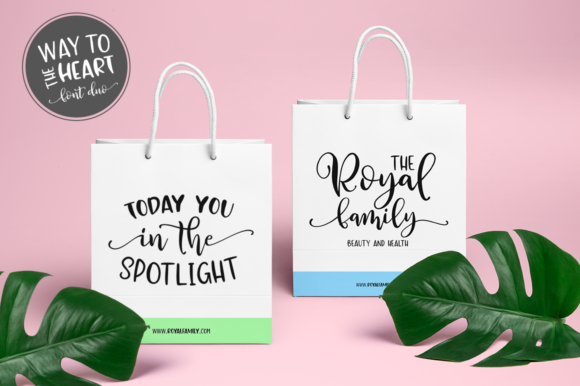 Print on Demand: Way to the Heart Duo Script & Handwritten Font By Pasha Larin - Image 2