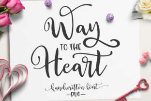 Print on Demand: Way to the Heart Duo Script & Handwritten Font By Pasha Larin