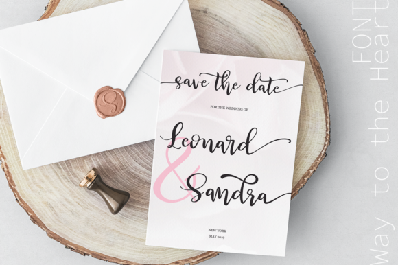 Print on Demand: Way to the Heart Duo Script & Handwritten Font By Pasha Larin - Image 8