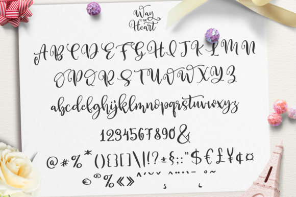 Print on Demand: Way to the Heart Duo Script & Handwritten Font By Pasha Larin - Image 10