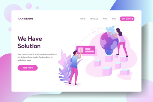 We Have a Solution Graphic Landing Page Templates By Twiri