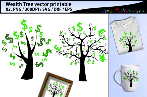 Wealth Tree Clipart SVG Graphic By Arcs Multidesigns Image 1