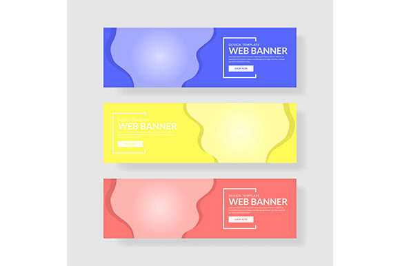 Download Free Web Banner Template Header Landingpage Website Graphic By SVG Cut Files
