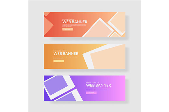 Download Free Web Banner Template Header Landingpage Website Graphic By for Cricut Explore, Silhouette and other cutting machines.