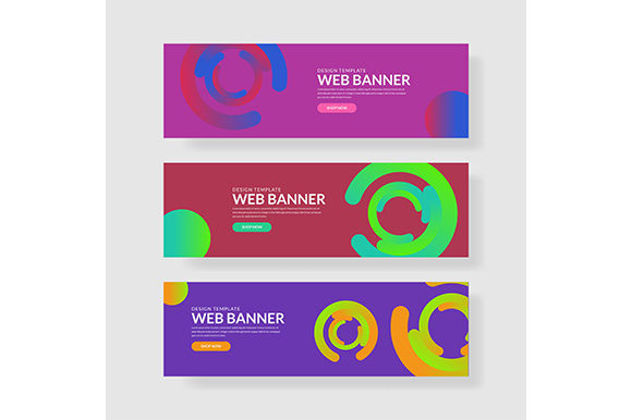 Web Banner Template Header Landingpage Website. Graphic Backgrounds By indostudio - Image 1
