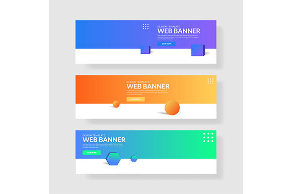 Web Banner Template Header Landingpage Website Graphic Backgrounds By indostudio - Image 1