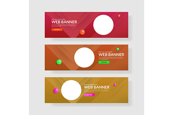 Web Banner Template Header Landingpage Website.