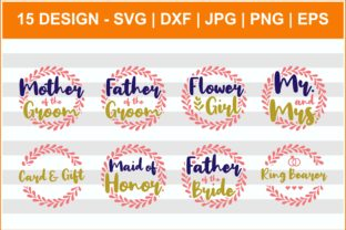 Download Free Wedding Bridal Party Bundle Graphic By Svgbomb Creative Fabrica for Cricut Explore, Silhouette and other cutting machines.