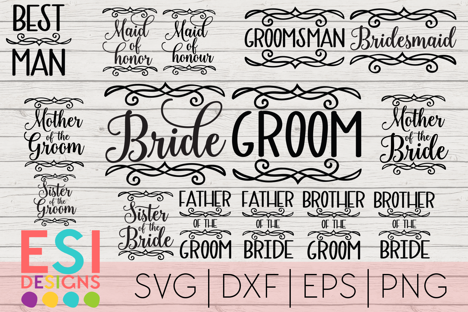 Download Free Wedding Mini Bundle Graphic By Esi Designs Creative Fabrica for Cricut Explore, Silhouette and other cutting machines.