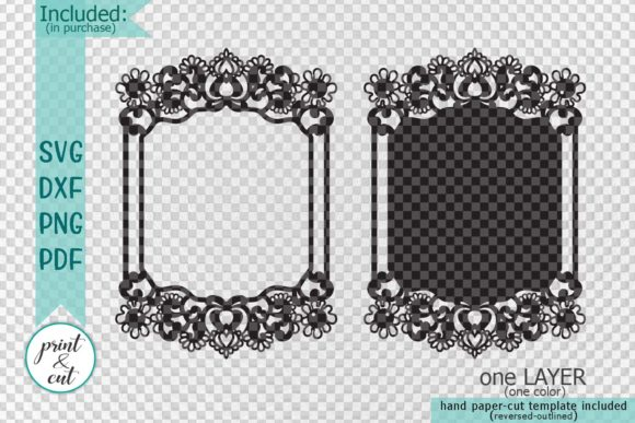 Download Free Wedding Frame Graphic By Cornelia Creative Fabrica for Cricut Explore, Silhouette and other cutting machines.