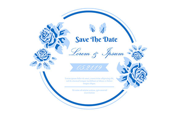 Download Free Wedding Invitation Card Flower Frame Graphic By Apple Creative for Cricut Explore, Silhouette and other cutting machines.
