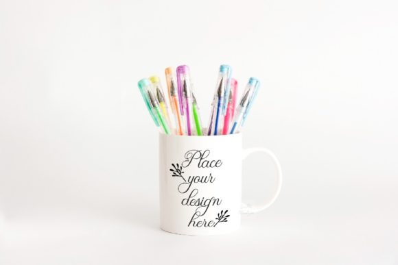 Print on Demand: White Coffee Mug School Mock Up Graphic Product Mockups By Leo Flo Mockups
