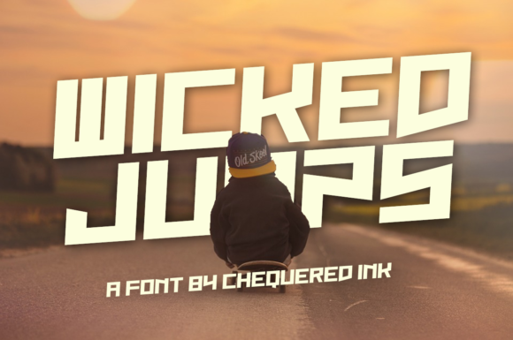 Print on Demand: Wicked Jumps Display Font By Chequered Ink - Image 1