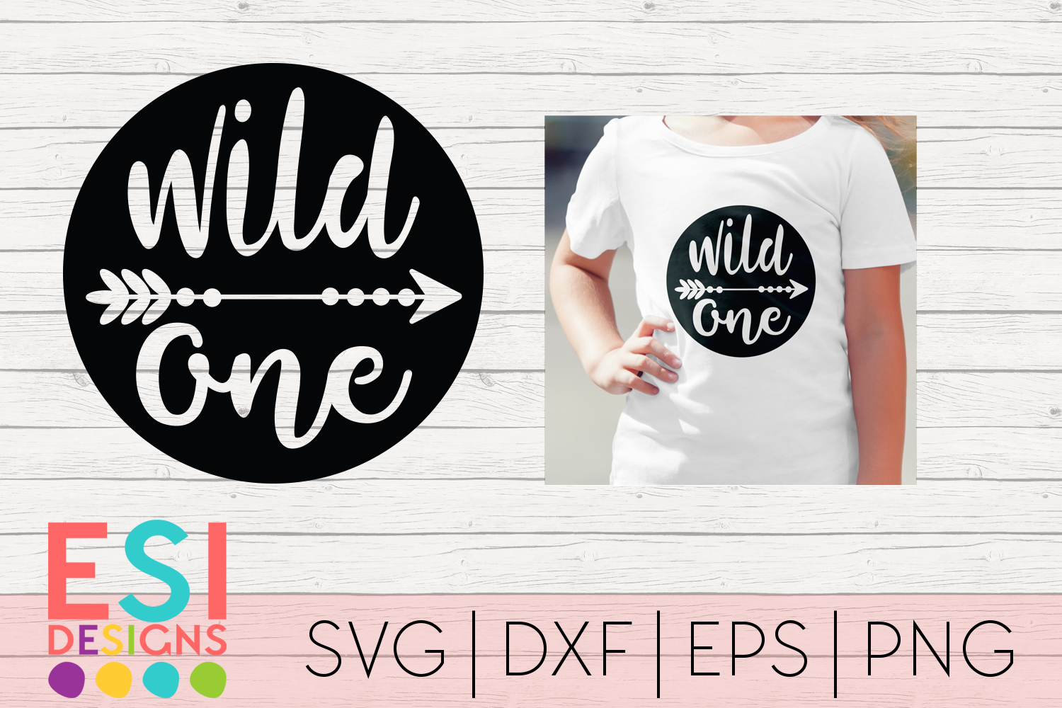Download Free Wild One Kids Phrase Design Graphic By Esi Designs Creative for Cricut Explore, Silhouette and other cutting machines.