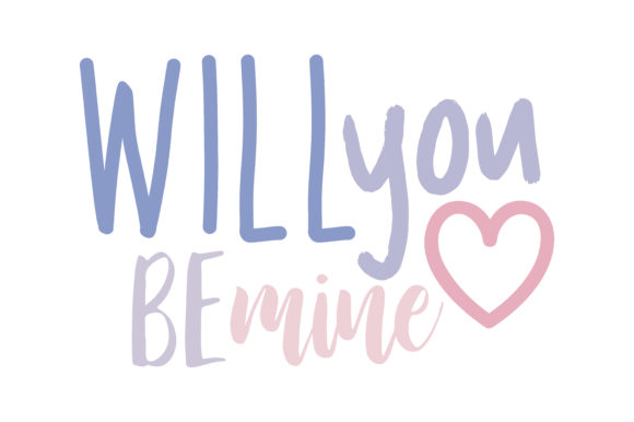 Download Free Will You Be Mine Quote Svg Cut Graphic By Thelucky Creative Fabrica for Cricut Explore, Silhouette and other cutting machines.