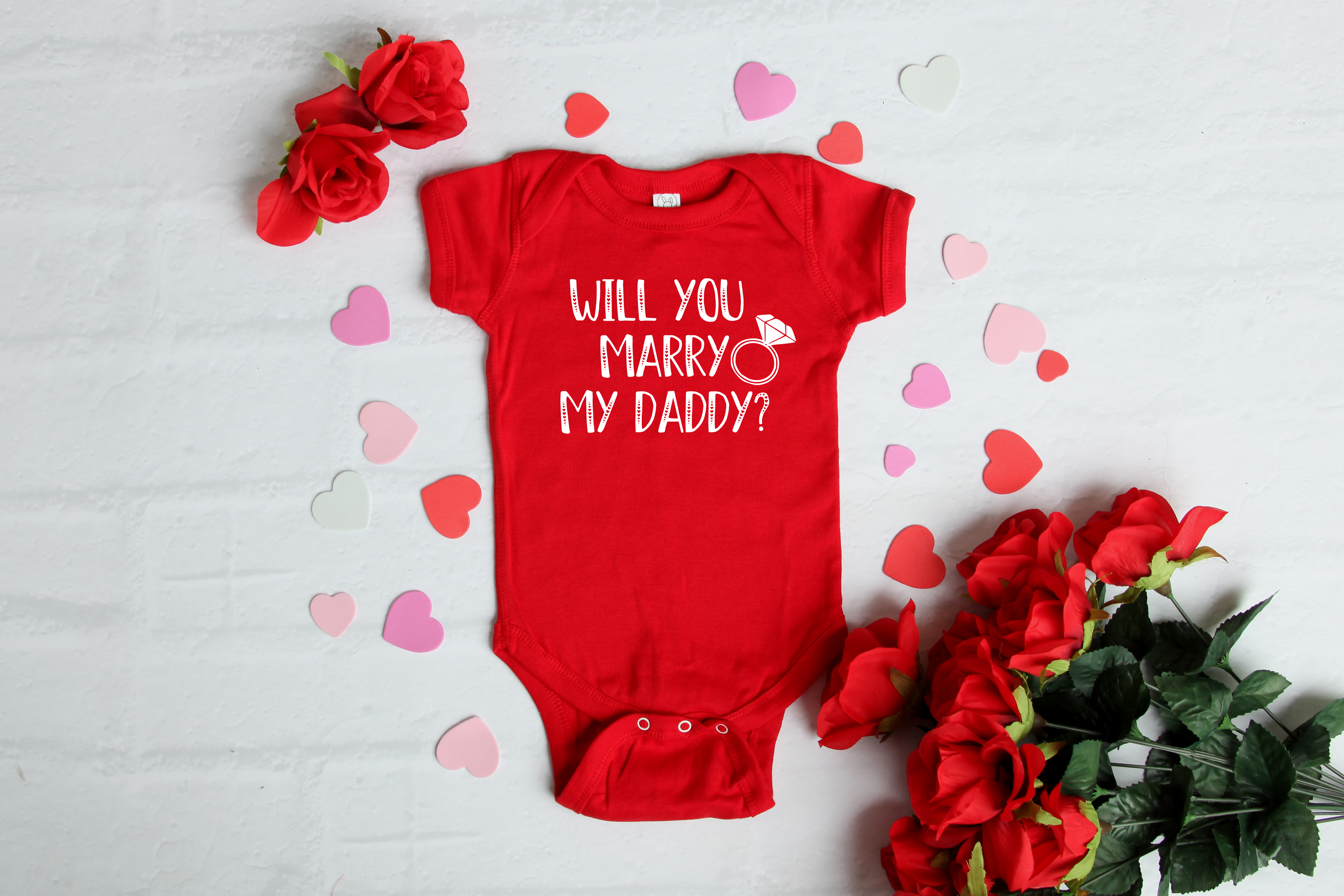 Download Free Will You Marry My Daddy Graphic By Mini Moo Creative Fabrica for Cricut Explore, Silhouette and other cutting machines.
