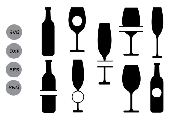 Wine Glass Monogram Svg Graphic By Cosmosfineart