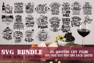 Wine Lovers SVG Bundle Graphic By SVG Story