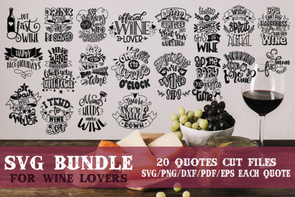 Download Free Wine Lovers Bundle Graphic By Svg Story Creative Fabrica SVG Cut Files