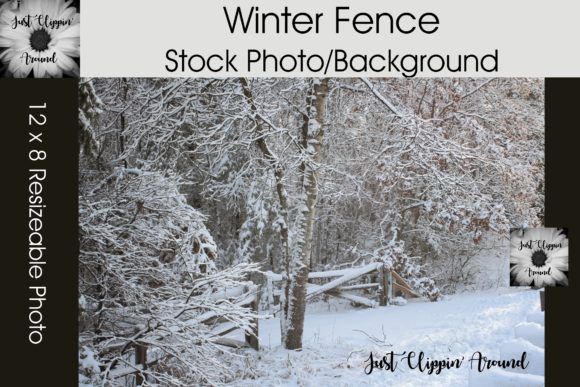 Winter Fence Stock Photo/Background Graphic Nature By justclippinaround