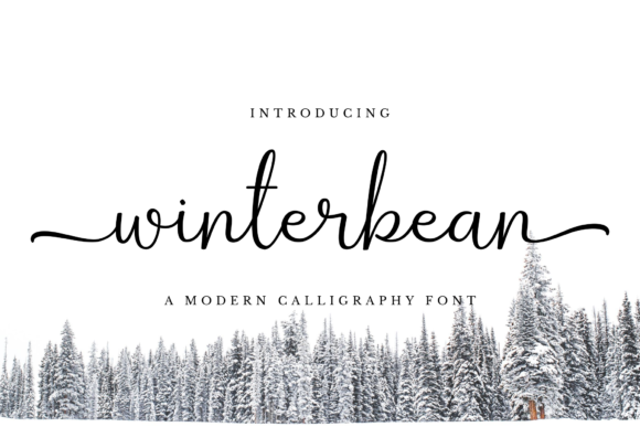 Print on Demand: Winterbean Manuscrita Fuente Por Sibelumpagi Studio